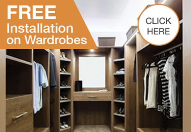 Free Installation on Wardrobes