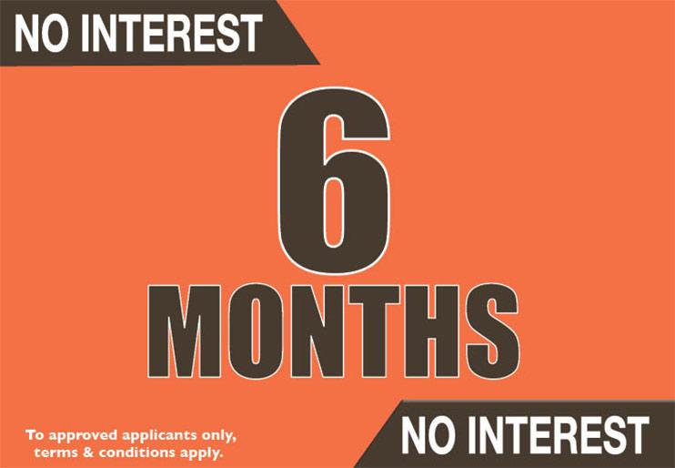 No Interest 6 Months